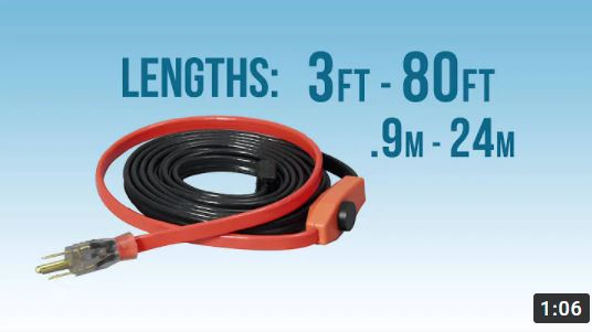 easy heat freeze protection cables