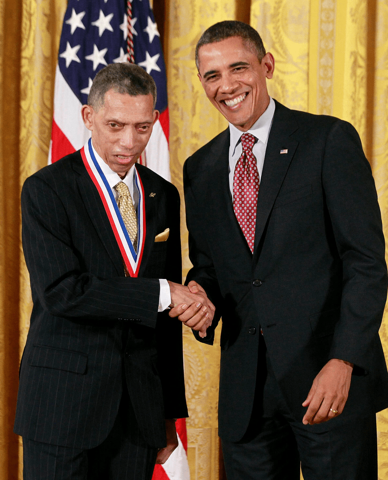 President Barack Obama presented Dr. Carruthers with the National Medal of Technology and Innovation in 2013. Credit: Jason Reed/Reuters